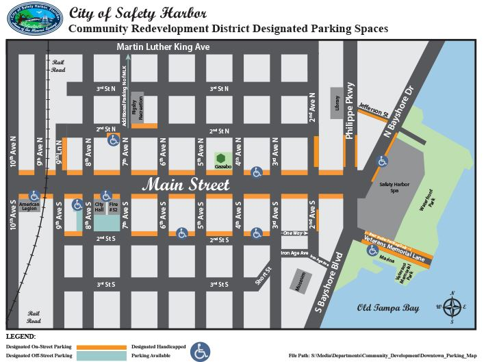 Safety Harbor Downtown Parking Map