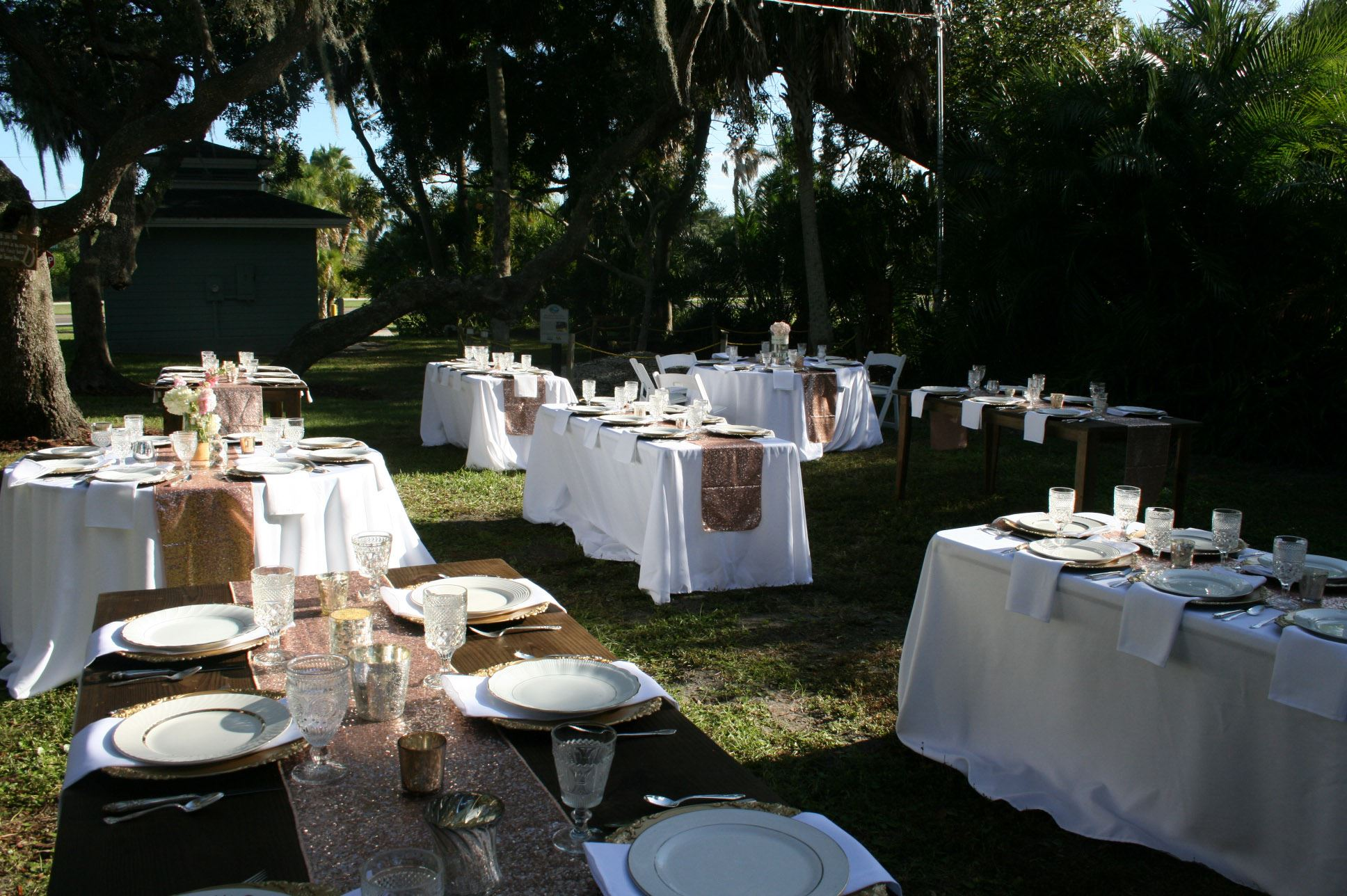 Outside Wedding Set Up 5